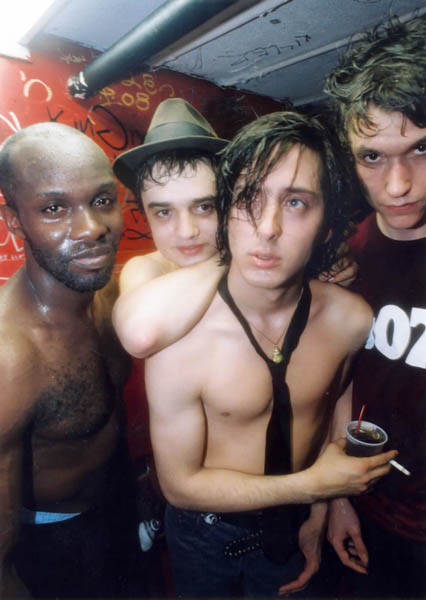 The Libertines backstage NME