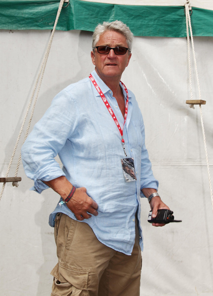 Latitude Festival organiser Melvin Benn before a press conference concerning the assaults at the festival on Thursday and Friday, in Henham Park, Southwold, Suffolk.