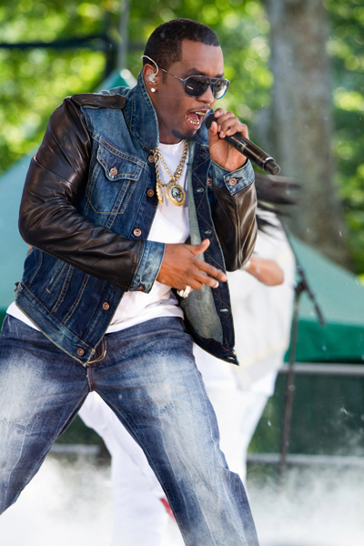 "Sean 'Diddy' Combs performs with his new group ""Diddy - Dirty Money"" in Central Park, on ABC's ""Good Morning America"" show, in New York, Friday, June 4, 2010. (AP Photo/Charles Sykes)"