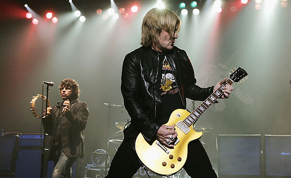 Ian Astbury and Billy Duffy of The Cult performing at Brixton Academy, London on September 22, 2006.