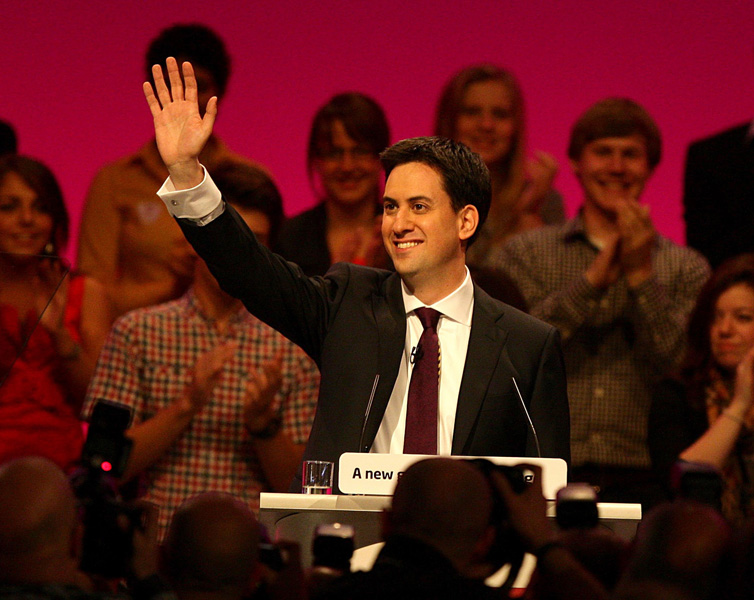 Leader of the Labour Party Ed Miliband delivers his maiden keynote speech at the Labour Party's annual conference in Manchester.