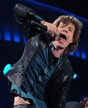 Mick Jagger, left, and guitarist Keith Richards of the Rolling Stones perform, Wednesday night, Sept. 27, 2006 at Giants Stadium in East Rutherford, N.J. (AP Photo/Bill Kostroun)