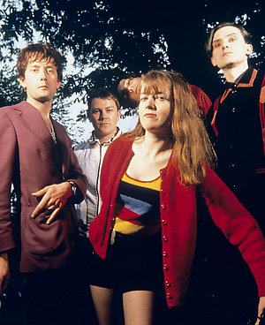 Indie band Pulp during a studio shoot