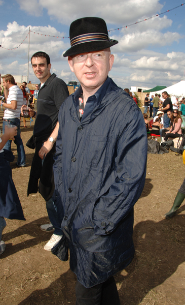 Alan McGee in the Virgin Mobile Louder Lounge at the V Festival (Photo by Jon Furniss/WireImage) *** Local Caption ***