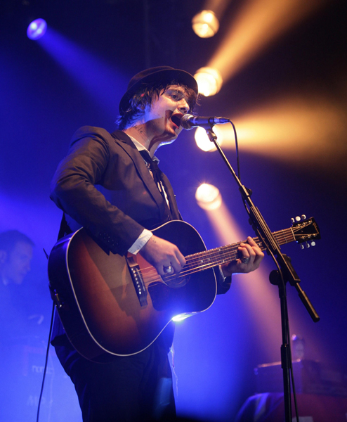Peter Doherty performing on the VMU Stage during the V Festival, in Hylands Park, Chelmsford, Essex.