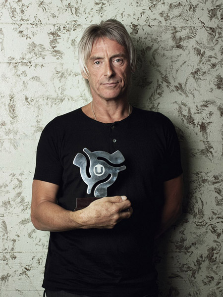 Paul Weller with the Uncut Music Award 2010 at the Wiltern Theatre, Los Angeles, November 3, 2010