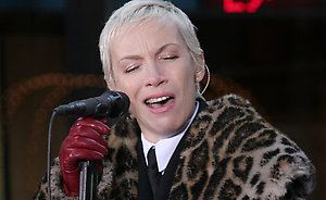 The Eurythmics perform live on the Today Show on the Plaza 