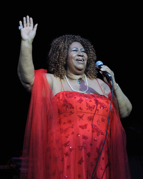 Aretha Franklin performs at the Hard Rock Live within the Seminole Hard Rock Hotel and Casino in Hollywood, Florida.
