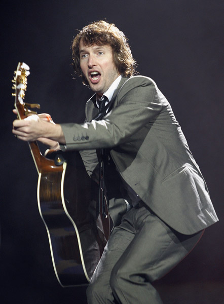 James Blunt performs on stage