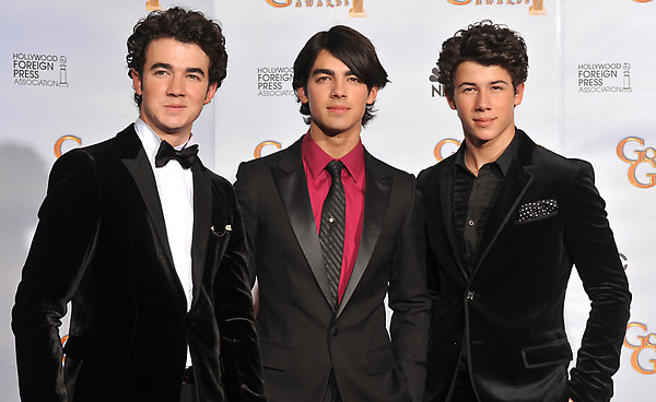 The Jonas Brothers at the 66th Annual Golden Globe Awards at the Beverly Hilton Hotel.