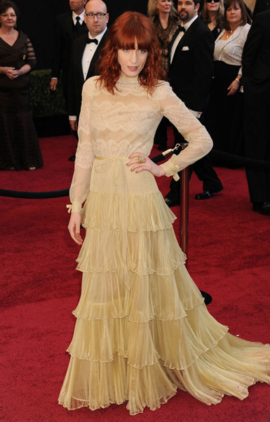 Florence Welch attends the 83rd Annual Academy Awards held at the Kodak Theater in Hollywood, CA on Sunday, February 27, 2010.(AP Photo/Jennifer Graylock)