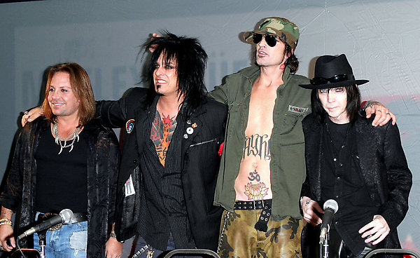 The press conference and live performance to announce the reunion of Motley Crue, Hollywood, CA.