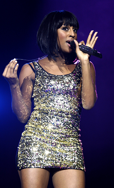 Alexandra Burke performing during Capital FM's Jingle Bell Ball at the O2 Arena in London.