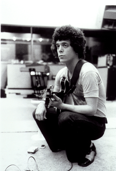 Frontman of American rock band 'Velvet Underground; Lou Reed jamming in the oate 1960s