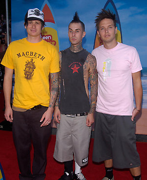 Blink 182 attending the 2004 Teen Choice Awards at Universal Studios, Hollywood. Paul Smith/allactiondigital.com