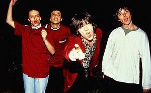 "The Stone Roses, Gary 'Mani"" Mounfield, John Squire, Alan 'Reni' Wren and Ian Brown."