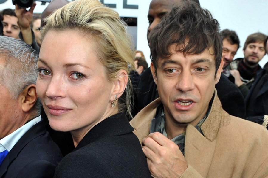 Kate Moss and her boyfriend Jamie Hince attending the Chanel Fall-Winter 2009-2010 ready-to-wear collection show held at the Grand Palais in Paris, France on March 10, 2009.