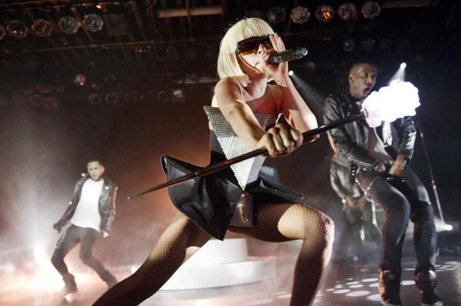 "American singer-songwriter LADY GAGA headlining her ""Fame Ball Tour"" at the Commodore Ballroom in Vancouver, Canada on Wednesday, March 18, 2009. THE CANADIAN PRESS/David Zhang"