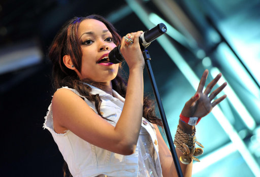 Dionne Bromfield performs at Somerset House in central London, as part of the Summer Series of concerts.