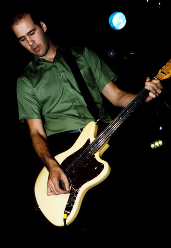 Sweet 75 guitarist and former Nirvana man Krist Novoselic performing on stage