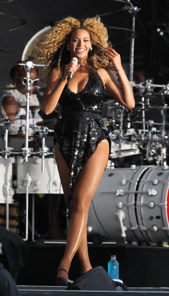 Beyonce performs at the T in the Park music festival at Balado Park near Kinross.