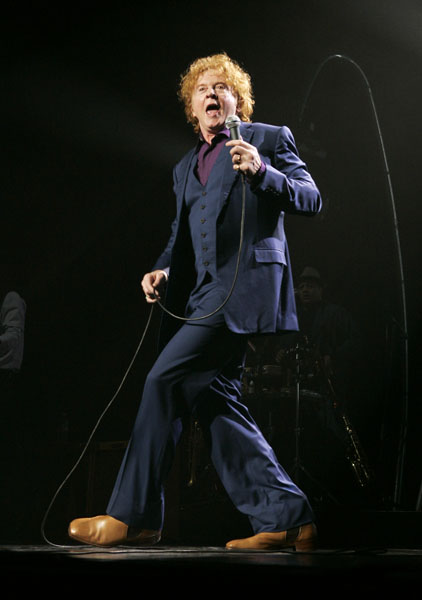 Mick Hucknall of Simply Red performs at Radio City Music Hall in New York City, USA.