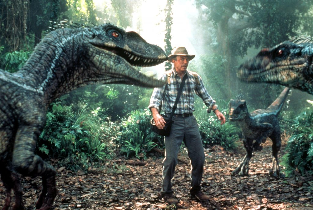 "Paleontologist Alan Grant (Sam Neill) is found in a scene from ""Jurassic Park III."