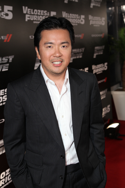 """Director Justin Lin arrives at Universal Studios joins Now Live in presenting the World Premiere of """"Fast 5"""" at the Ciepolis Lagoon Stadium in Rio de Janeiro, Brazil Friday, April 15, 2011.(Alex J. Berliner/abimages) via AP Images"""