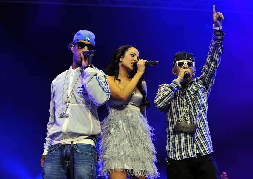 N Dubz perform at the Isle of Wight festival, in Newport on the Isle of Wight.