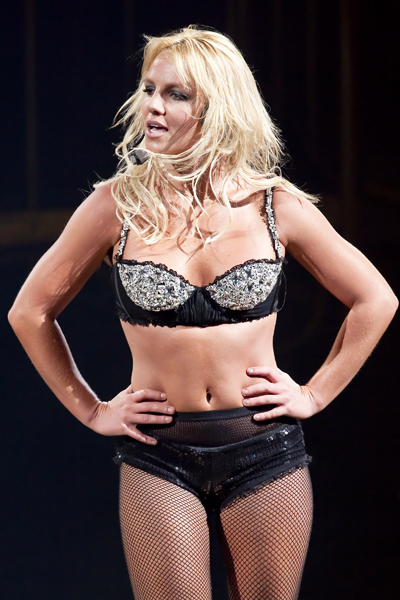 Britney Spears performing in concert to a full house as part of 'The Circus' tour, live at Scotiabank Place in Ottawa, Ontario, Canada.