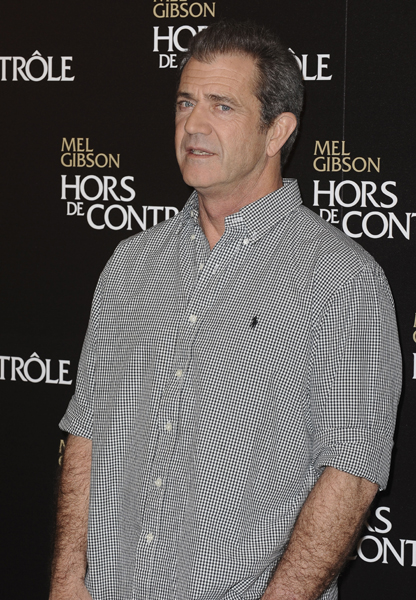 Mel Gibson posing for the Photocall of ' Edge of Darkness ' at the Bristol Hotel in Paris, Franc