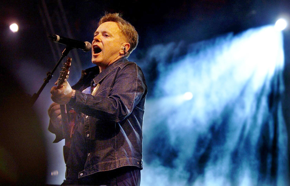 PA PHOTOS/POLFOTO - UK USE ONLY: Singer Bernard Sumner from the band New Order performs at the Roskilde Music Festival in Denmark.