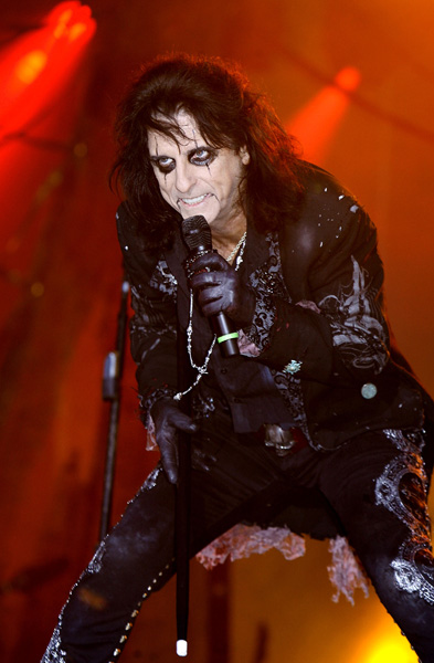 Alice Cooper performs live at the London International Motor Show, at the ExCeL Centre in London.