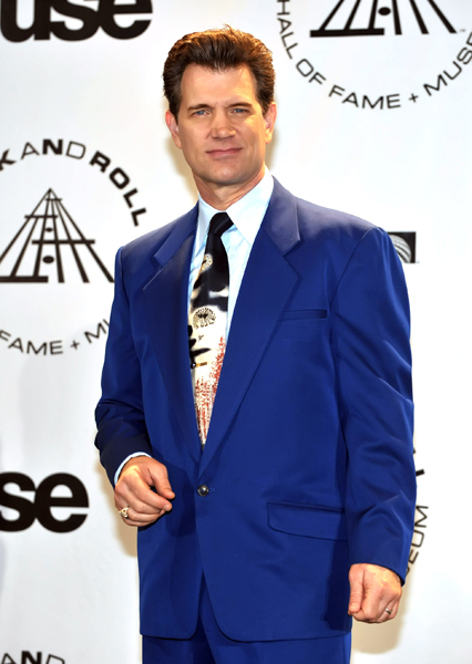 Singer Chris Isaak attends the 25th Annual Rock And Roll Hall of Fame Induction Ceremony at the Waldorf Astoria in New York City, USA on March 15, 2010. (Pictured: Chris Isaak)
