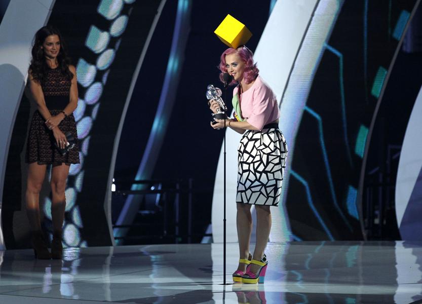 at the MTV Video Music Awards on Sunday Aug. 28, 2011, in Los Angeles. (AP Photo/Matt Sayles)