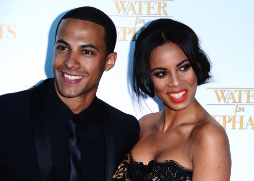 Marvin Humes and Rochelle Wiseman arriving for the UK Premiere of Water for Elephants at the Vue Westfield, London.