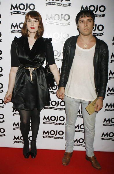 Kate Nash and boyfriend Ryan Jarman of The Cribs arrive at the MOJO Awards at The Brewery in London.