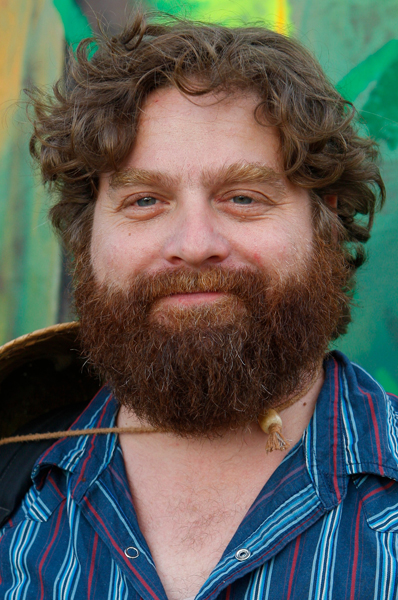 Comedian Zach Galifianakis poses for a portrait at the Bonnaroo Music and Arts Festival 2008, Saturday, June 14, 2008, in Manchester, Tenn. (AP Photo/Bill Waugh)