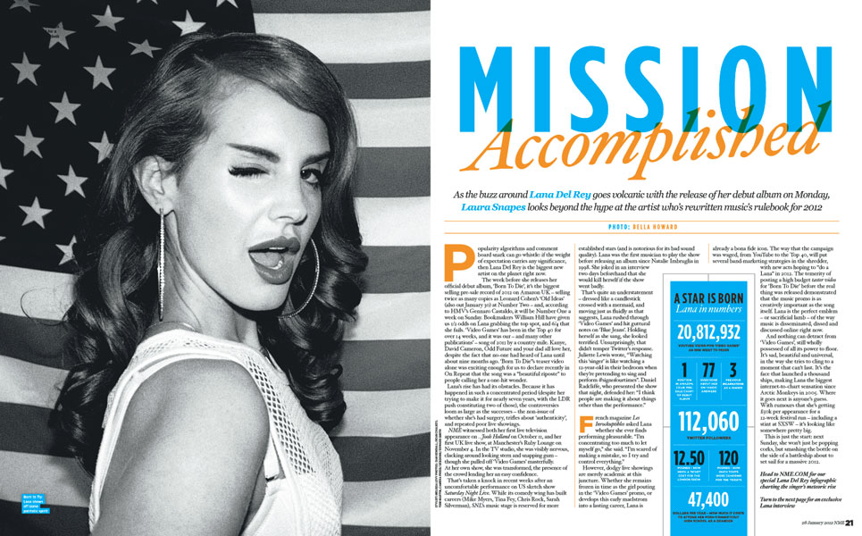 The True Face Of Lana Del Rey Inside This Week S Nme