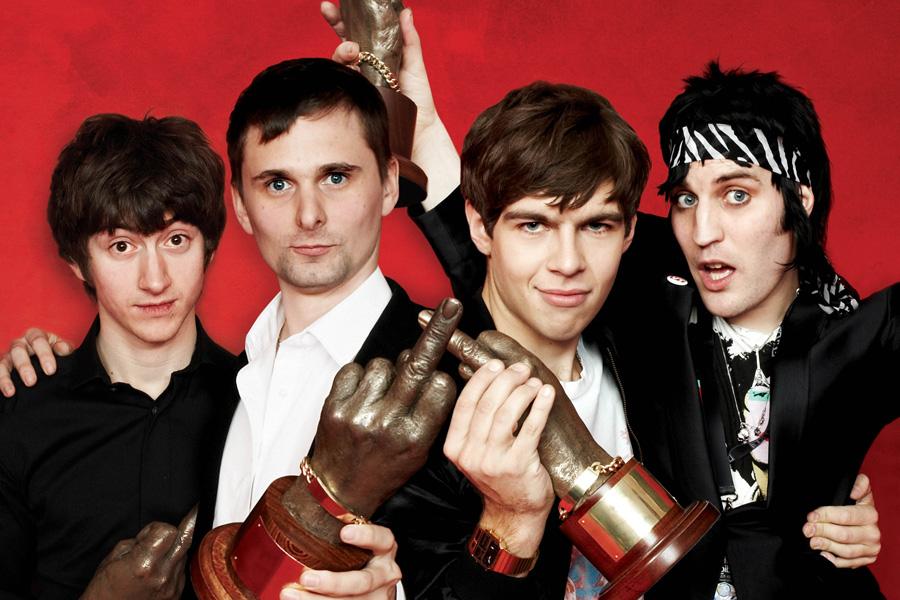 Alex Turner, Noel Fielding, Matt Bellamy and James Righton (Klaxons)