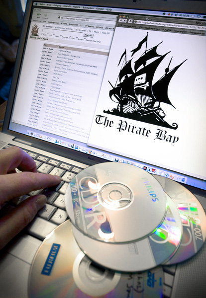 The founders of the file sharing web site Pirates Bay was charged with violations against the copyright laws at a court in Stockholm, Sweden, January 31, 2007. Foto: Claudio Bresciani / SCANPIX / Kod 10190