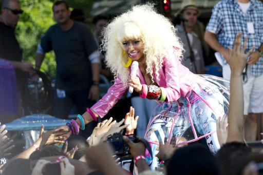 Nicki Minaj performs on ABC's Good Morning America in New York, Friday, August 5, 2011. (AP Photo/Charles Sykes)