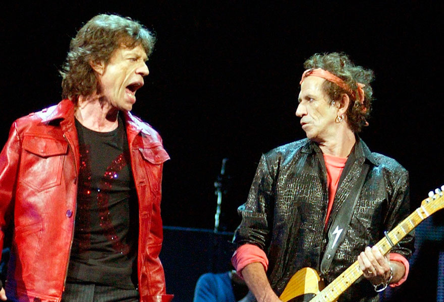 The Rolling Stones' Mick Jagger and Keith Richards to