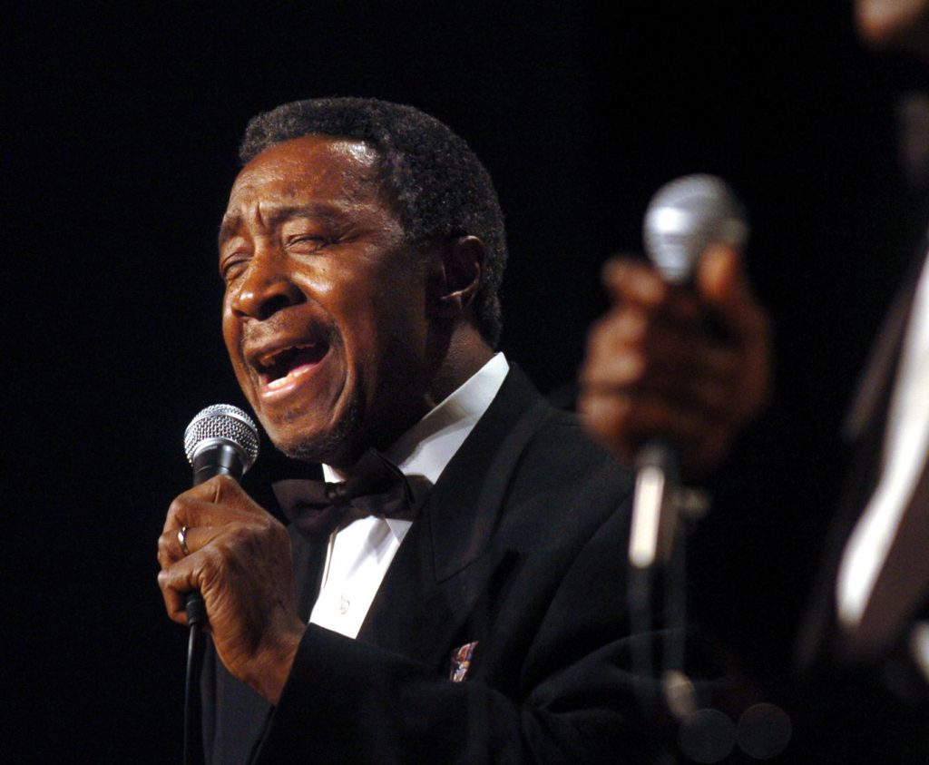 "In this 2007 photo, singer Jimmy Ellis, of The Trammps, performs onstage during a concert at South Pointe High School in Rock Hill, S.C. Ellis, the ""Disco Inferno"" singer who battled Alzheimers disease the past three years after touring up until 2008, died Thursday morning, March 8, 2012 in Rock Hill, S.C., his wife and brother said. He was 74."