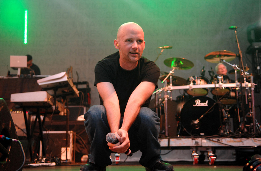 Moby performs during the Nike+ Human Race event at Wembley Stadium in north London.