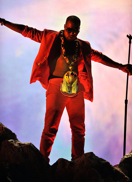 Kanye West performs onstage at the 2010 BET Awards at the Shrine Auditorium on June 27, 2010 in Los Angeles, California.