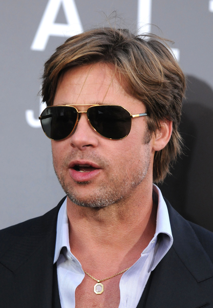 Brad Pitt at the 'Salt' Los Angeles premiere held at Grauman's Chinese Theatre, Hollywood.