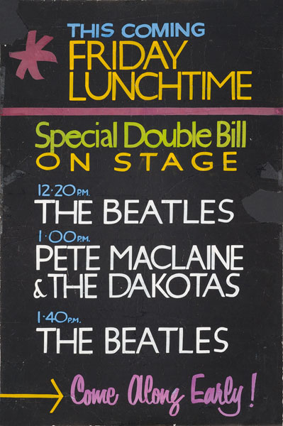 Rare Beatles Poster From The Cavern Club Fetches GBP27500 At Auction