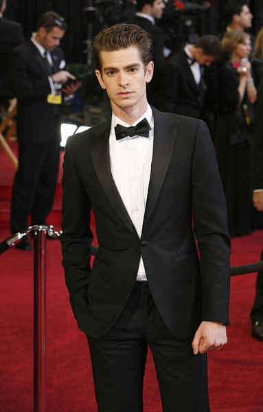 Andrew Garfield arrives on the red carpet for the 83rd annual Academy Awards held at the Kodak Theatre in Los Angeles on February 27, 2011. Adrian Sanchez-Gonzalez/PI /Landov