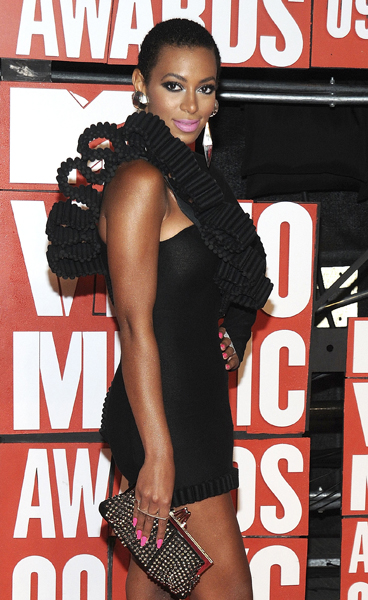 Solange Knowles attends the 2009 MTV Video Music awards in New York City, NY, USA